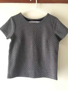 Grey Patterned Top