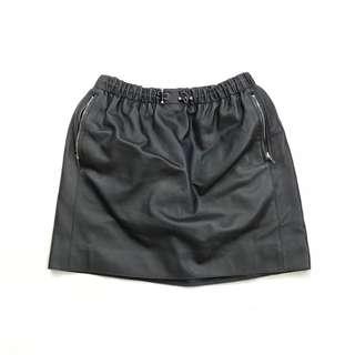 二手🌸 HERMÈS 黑色皮裙 size 34 = XS