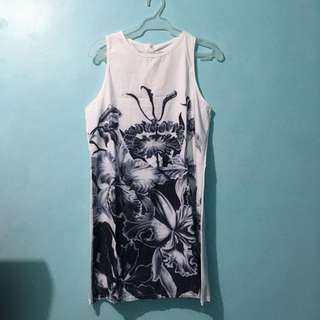 Gray & White Dress