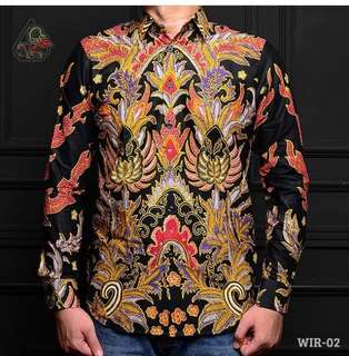 Kemeja Batik Pria Lengan Panjang Slimfit WIR II Premium