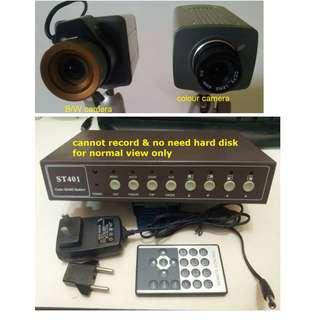 CCTV 4 channel Quad Processor + 2 Camera