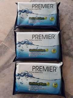 Premier Wet Wipes 50 sheets x 3