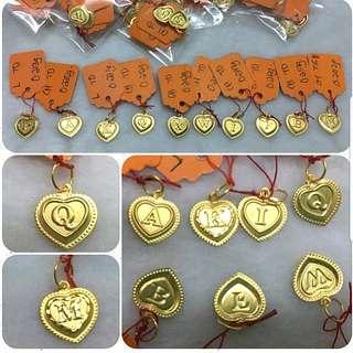 916 Gold Pendant letter