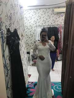 NEW Broken White Dress (Nikah, Akad or Photoshoot Wedding)