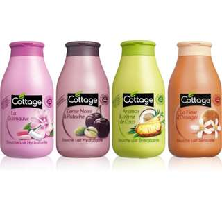 Cottage Shower Gel 250ml Paket isi 4 (French References)sweet & fresh