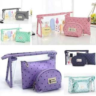 3 in 1 cosmetic pouch