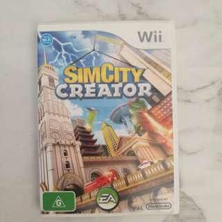 Nintendo Wii Sim City Creator