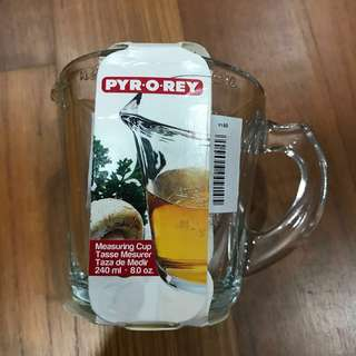 Crisa Pyr-O-Rey Small Measuring Cup 240ml - Glass
