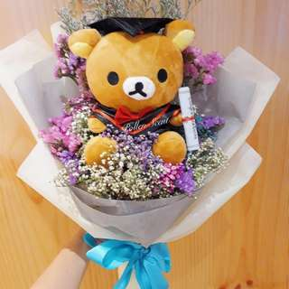 Graduation Bouquet with bear