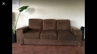 2 x 3 seater couches. Steam cleaned Jan 2018