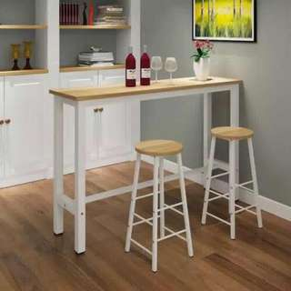 Bar Set (Table + 2 Bar stools)