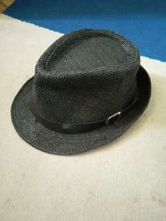 Used Black Trilby Hat for Men