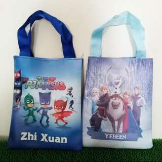 Personalized Party Favor Goodie Bag (Flat Tote Bag) - Birthday Souvenirs