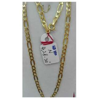 20 INCHES, 18K SPL SAUDI GOLD NECKLACE / CHAIN <<>><>