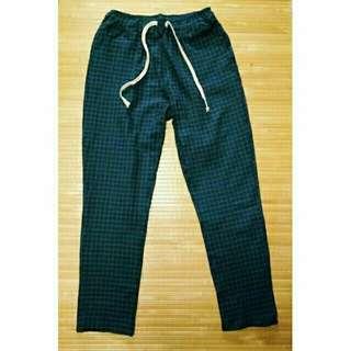 🚚 低調綠格子長褲