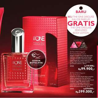 beli parfum The One Disguise Eau de Parfum, dapat gratis body cream the one disguise