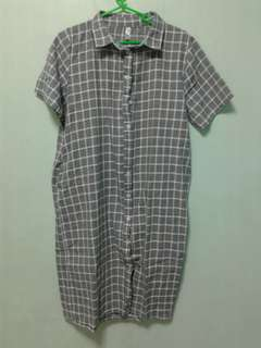 kashieca checkered dress with side pocket