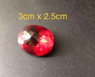 A fine synthetic ruby