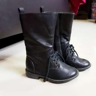 Children Black Boots Zara