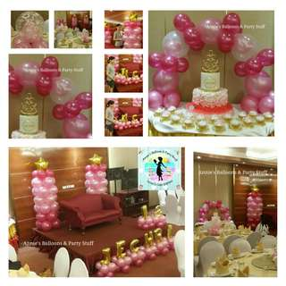 Pink and Gold Balloon Party Package