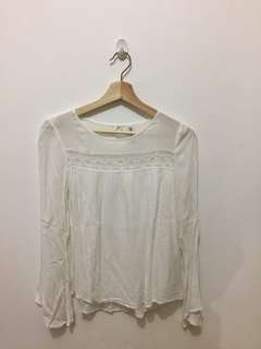 Bohemian white basic blouse