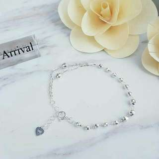 Baby Soft Bead Bracelet /Foot Chain 925 Silver Ready Stock