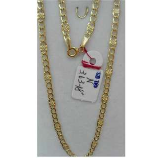 18 INCHES, 18K SPL SAUDI GOLD NECKLACE / CHAIN
