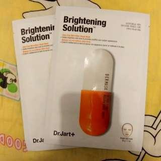 Dr.Jart+ Sheet Mask Brightening Solution set of 2