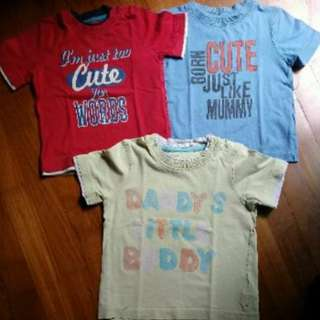 Set of 3 Mothercare boy tees