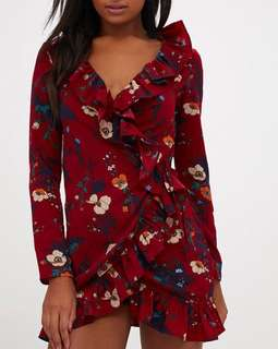 BNWT Pretty Little Thing Wrap Dress