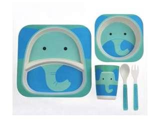 Baby Kids Children Bamboo Fiber Tableware Set★Baby Bowl★Dinnerware Dishware★Plate set★Utensils★Baby Bowl Plate Cup
