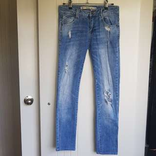 Zara distressed jeans EUC