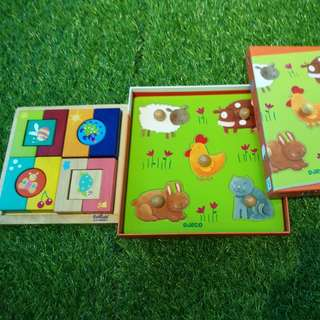 Boikido and Djeco wooden puzzles