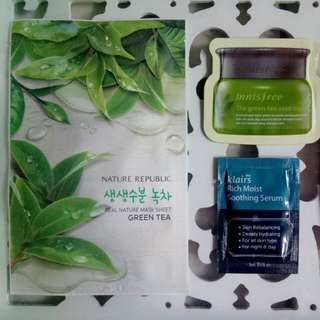 Korean skin care bundle sample kit