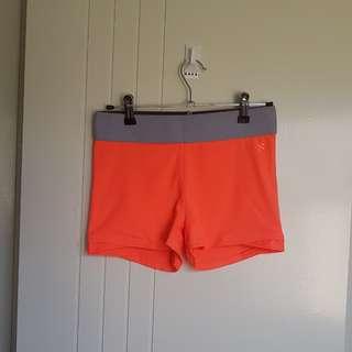 Fluoro pink running shorts
