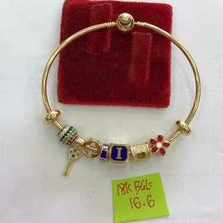 Pandora inspired bracelet 18k