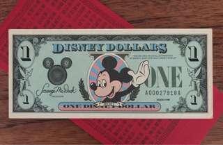 US Disney Dollars 1988 美國 廸士尼