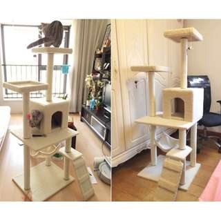 1.5m Cat Condo - Scratching Pole/ Tree house