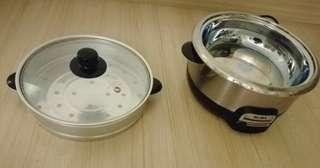 Elba multi cooker 6in1 function, stir fry, frying, steamboat, steaming, slow cooking & food steamer