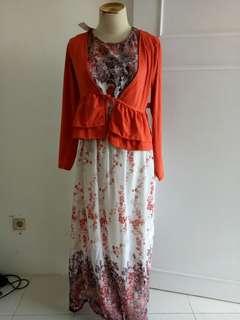Dress bolero terpisah
