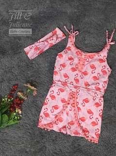 GENEVA Flamingo Baby Romper Set