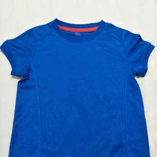 🚩lativ 藍色DRY 排汗短袖上衣-110cm