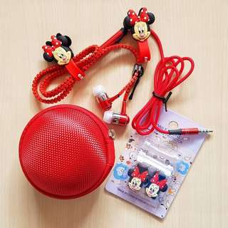 Zipper Earphone Set with Pouch