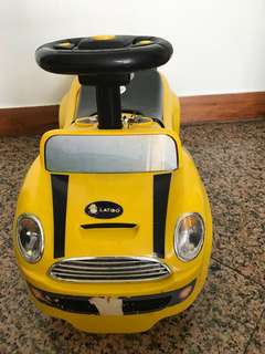 Preloved yellow car for toddler