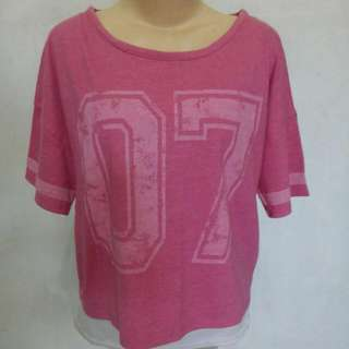 New Tirajeans Pink Crop Top