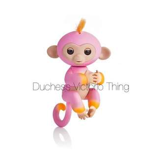 Fingerlings 2Tone Monkey - Summer (Pink with Orange Accents - Interactive Baby Pet By WowWee