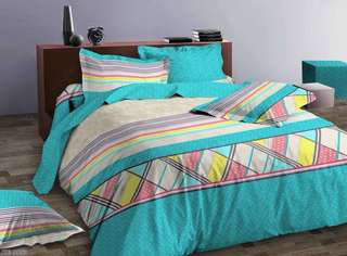 Bed Cover dan Sprei HIGH GRADE Katun Jepang Tosca Math