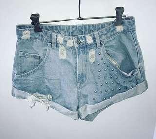 Some days lovin Denim Distressed shorts. Size 10. Brand new
