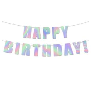 Holographic/ Iridescent Foil HAPPY BIRTHDAY! Banner