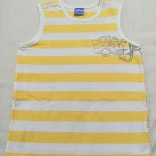 🚩麗嬰房Disney黃白橫條背心-8